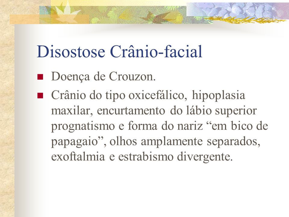 Disostose Crânio-facial