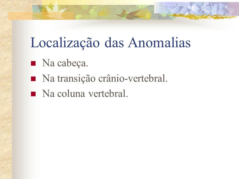 Localização das Anomalias