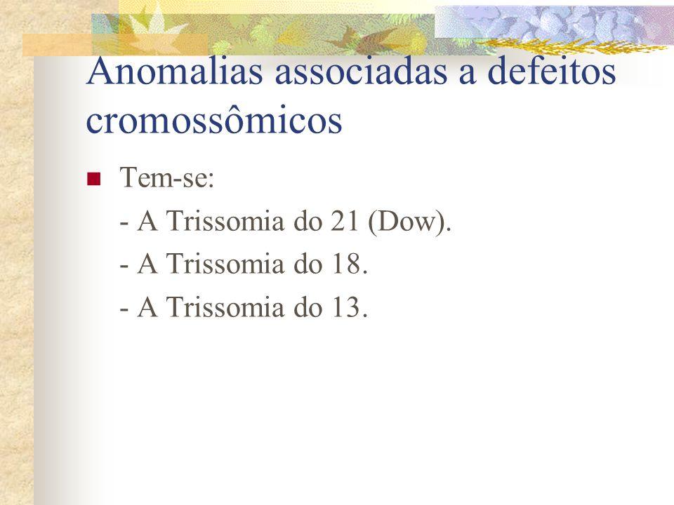 Anomalias associadas a defeitos cromossômicos