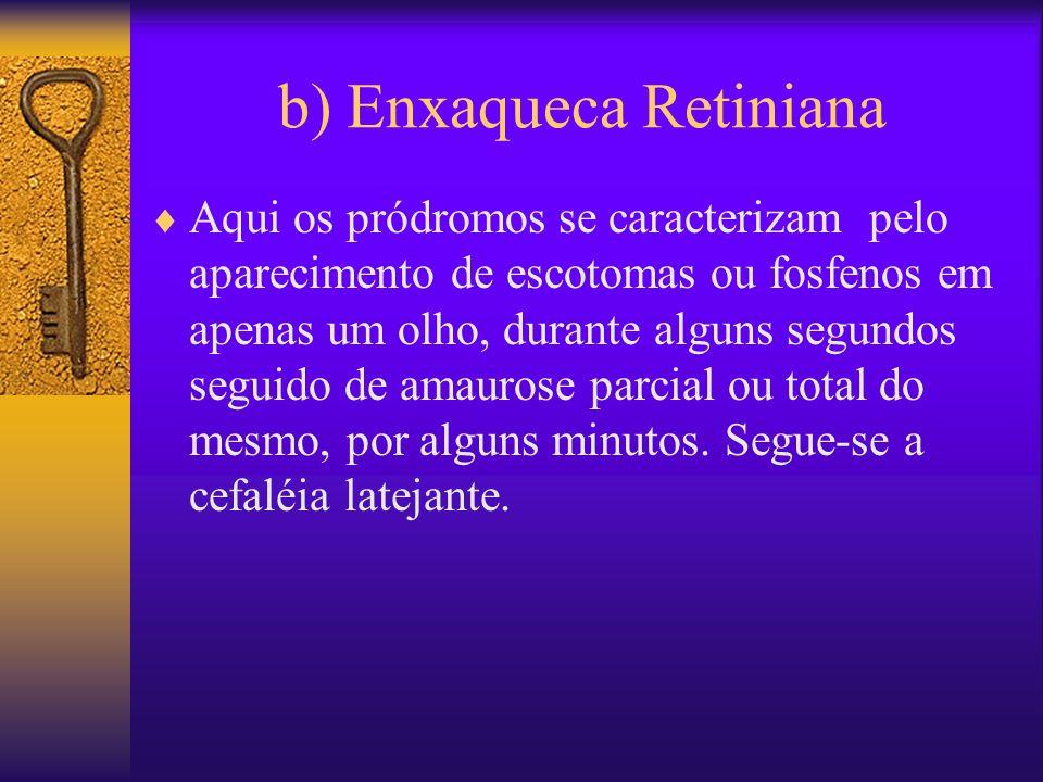 b) Enxaqueca Retiniana
