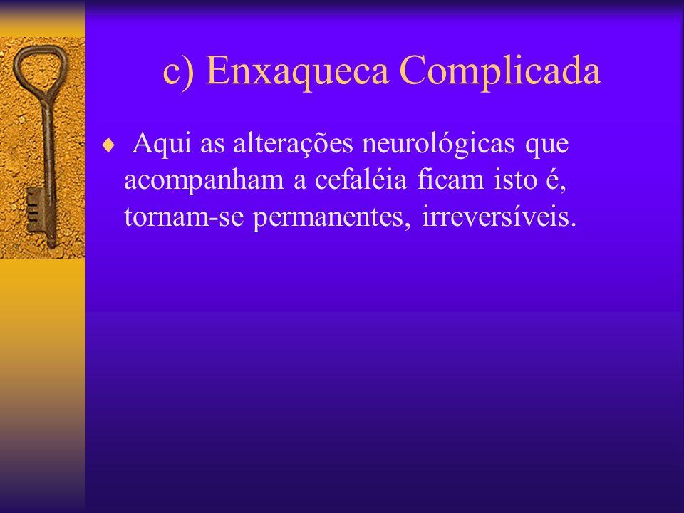 c) Enxaqueca Complicada