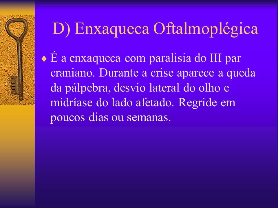 D) Enxaqueca Oftalmoplégica
