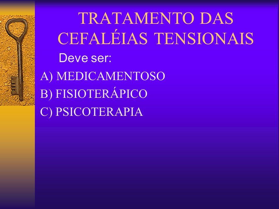 TRATAMENTO DAS CEFALÉIAS TENSIONAIS