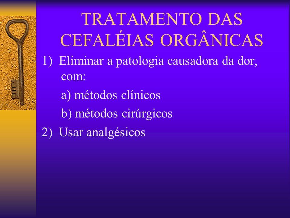 TRATAMENTO DAS CEFALÉIAS ORGÂNICAS