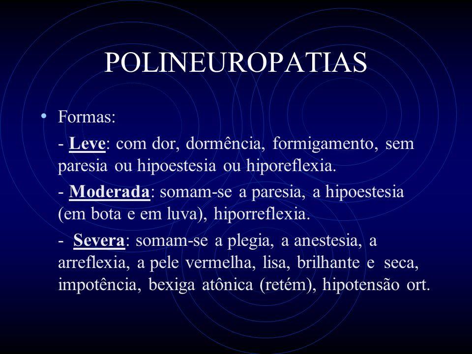 POLINEUROPATIAS Formas:
