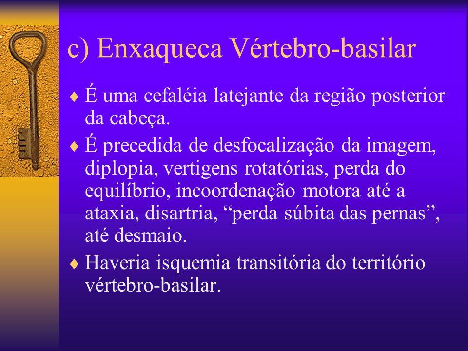 c) Enxaqueca Vértebro-basilar