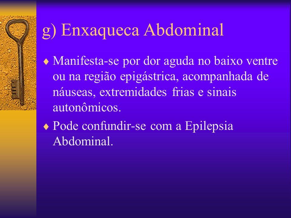 g) Enxaqueca Abdominal