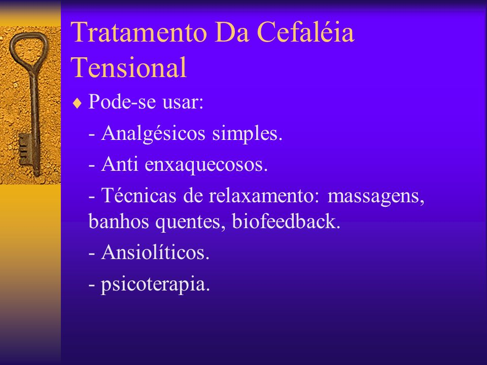 Tratamento Da Cefaléia Tensional