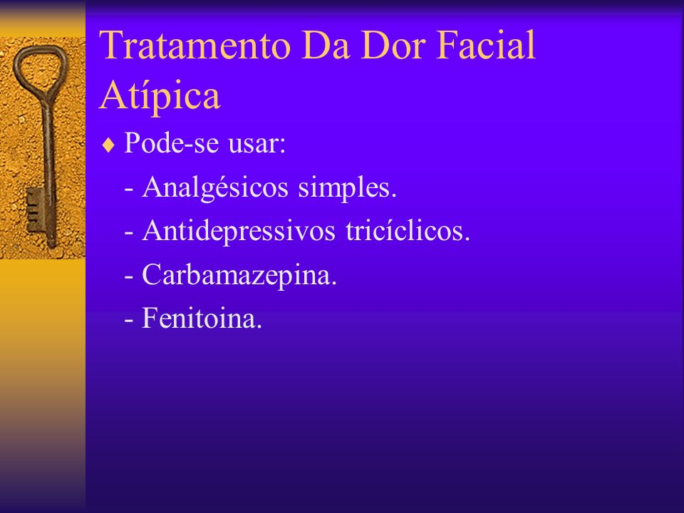 Tratamento Da Dor Facial Atípica
