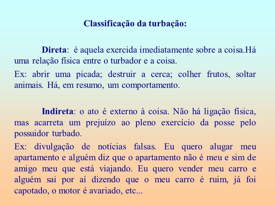 Classificação da turbação: