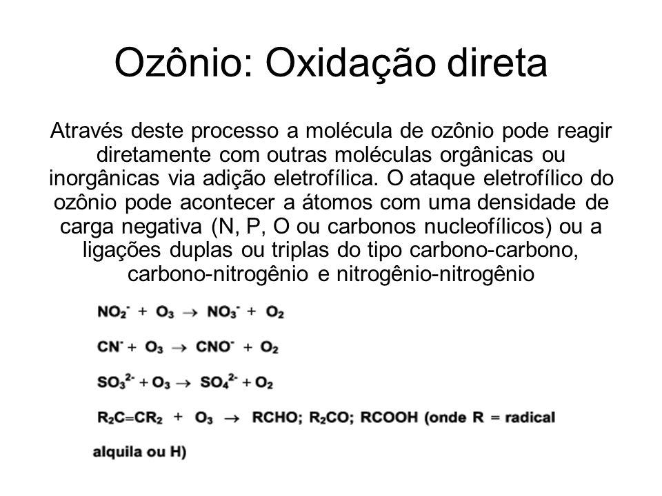 Ozônio: Oxidação direta