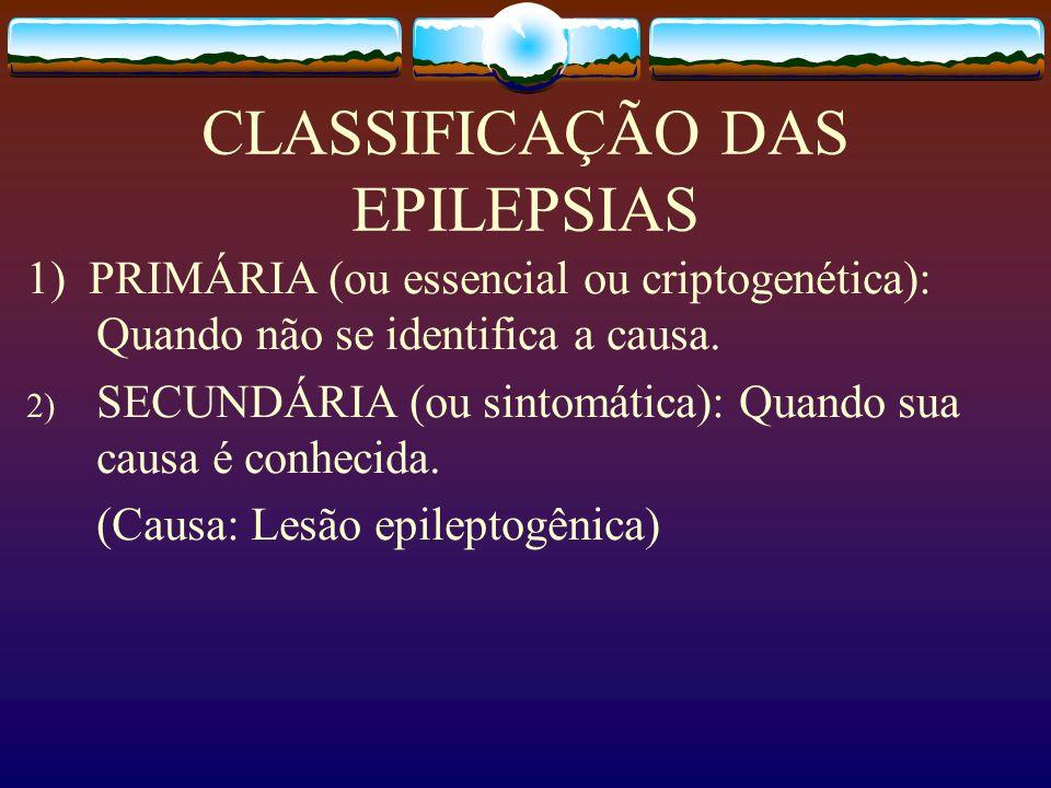 CLASSIFICAÇÃO DAS EPILEPSIAS