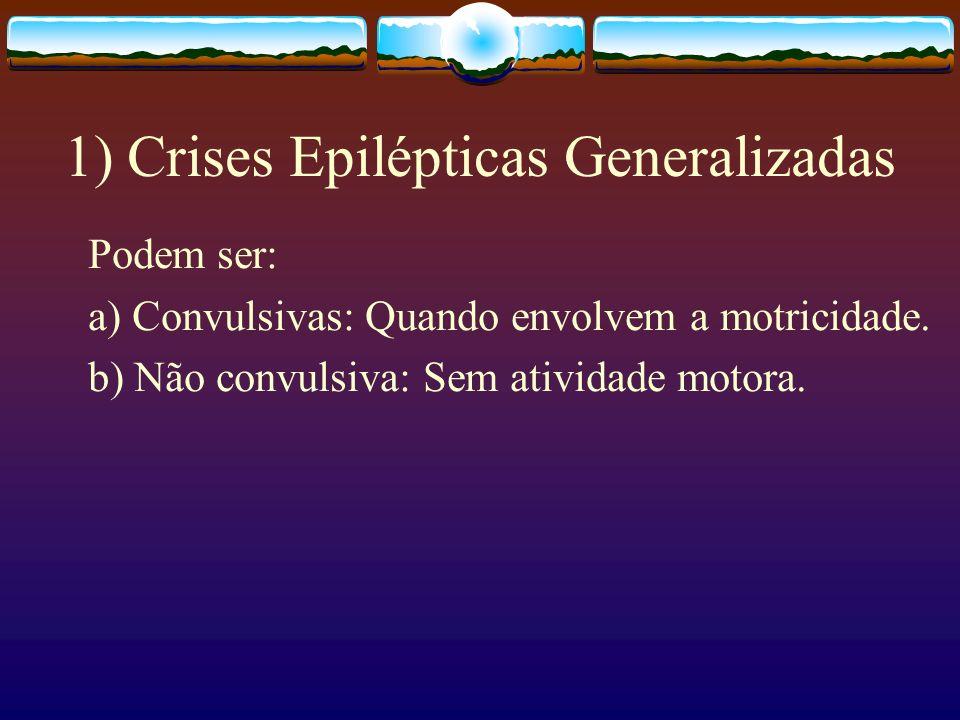 1) Crises Epilépticas Generalizadas
