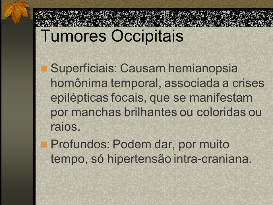 Tumores Occipitais