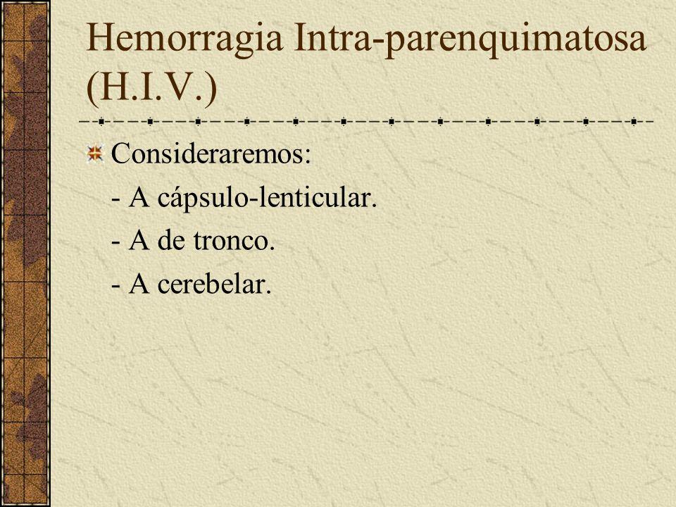 Hemorragia Intra-parenquimatosa (H.I.V.)