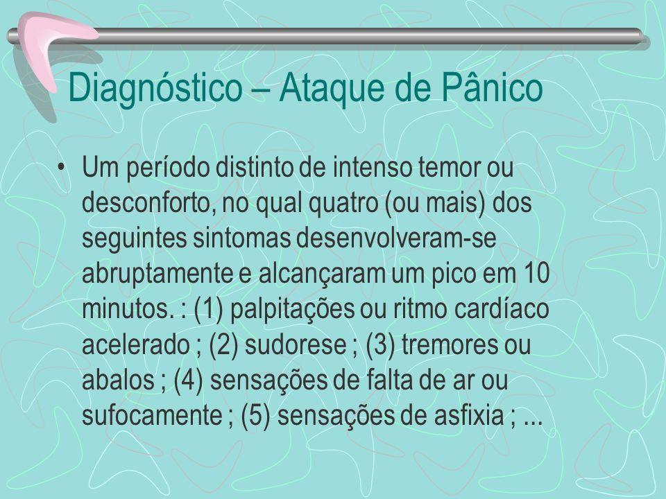 Diagnóstico – Ataque de Pânico