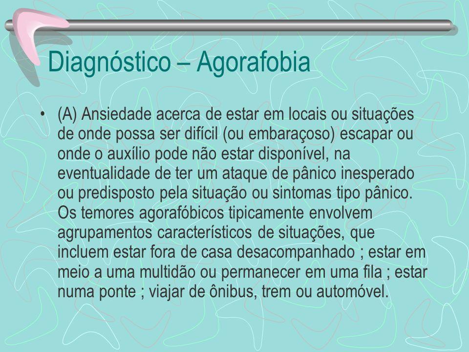 Diagnóstico – Agorafobia