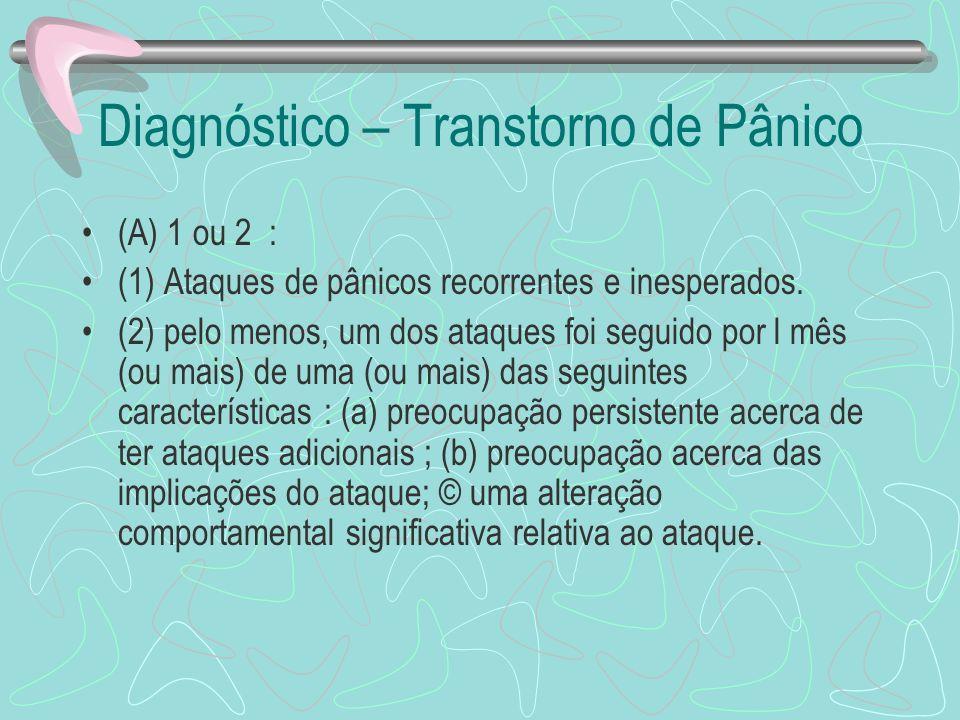 Diagnóstico – Transtorno de Pânico