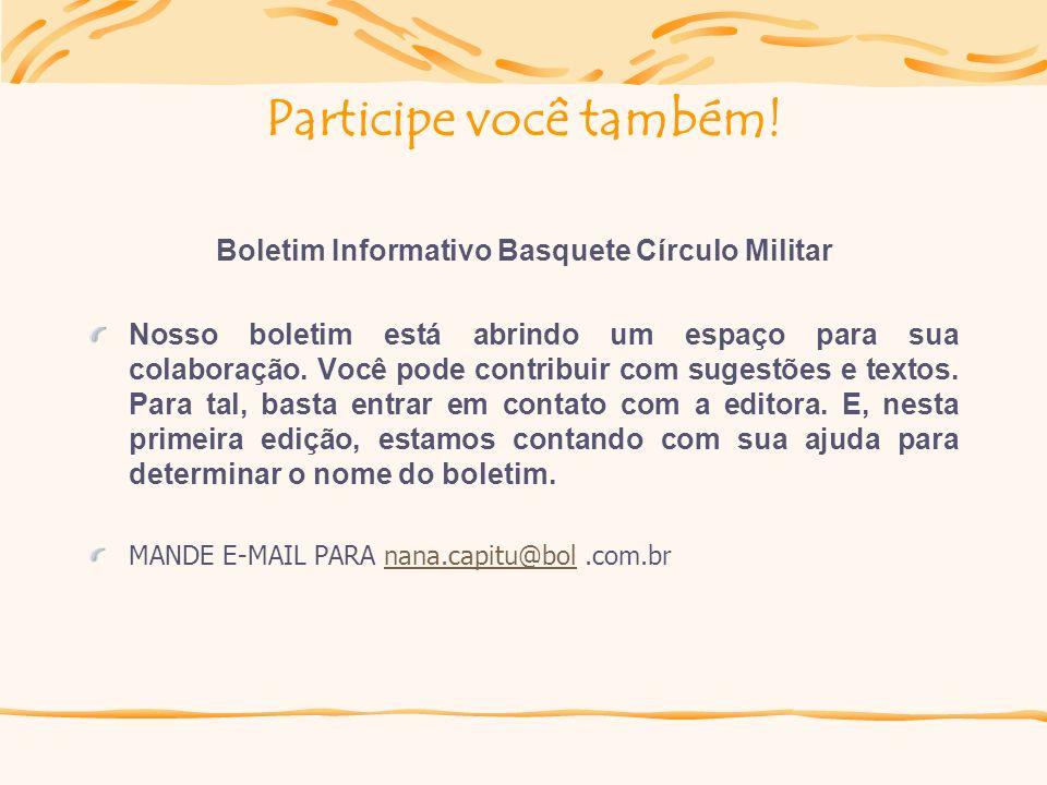 Boletim Informativo Basquete Círculo Militar