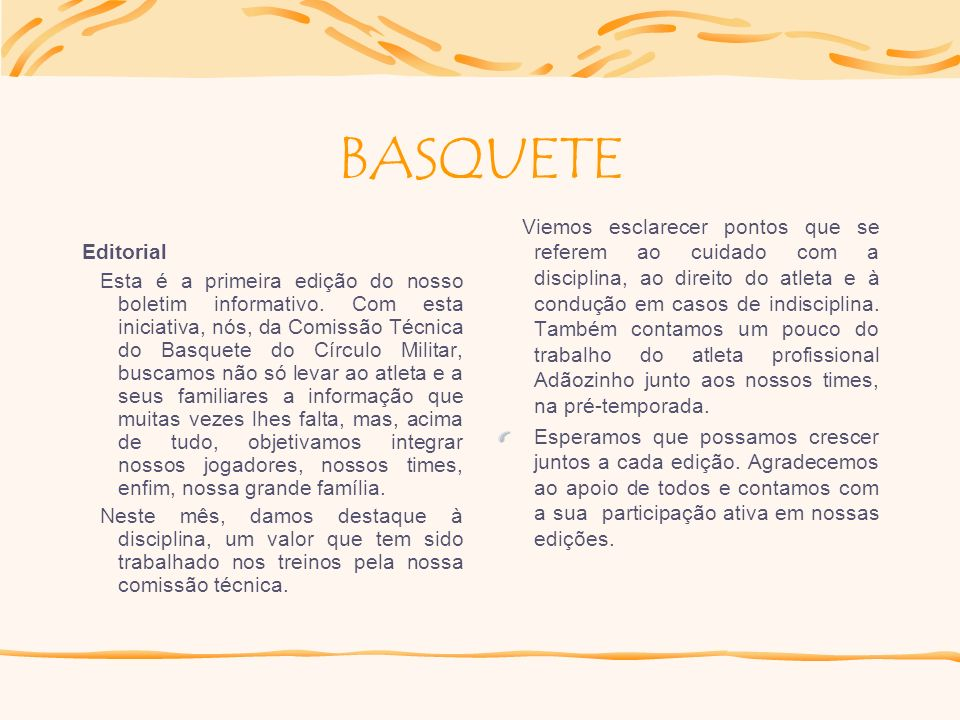 BASQUETE Editorial.