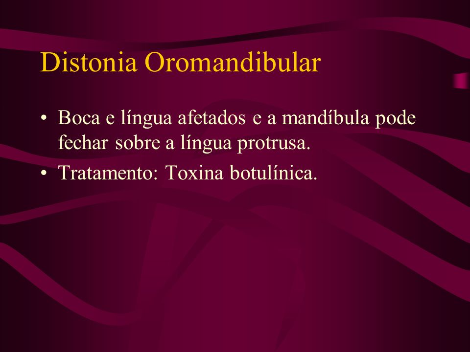 Distonia Oromandibular
