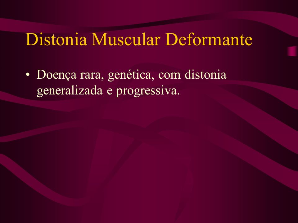 Distonia Muscular Deformante