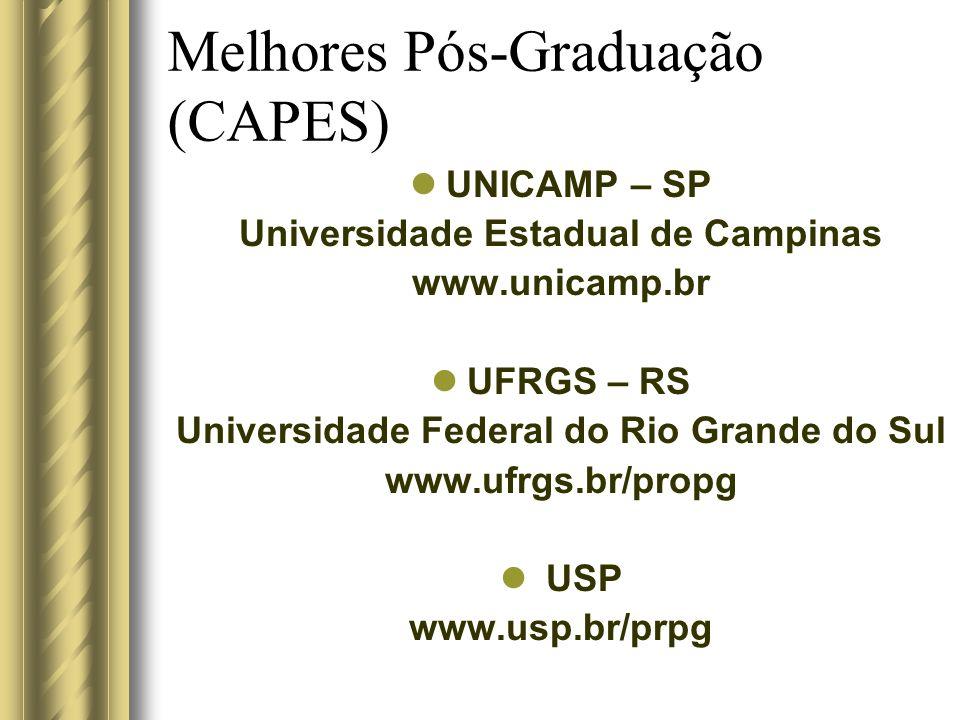 Melhores Pós-Graduação (CAPES)