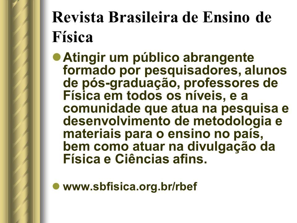 Revista Brasileira de Ensino de Física