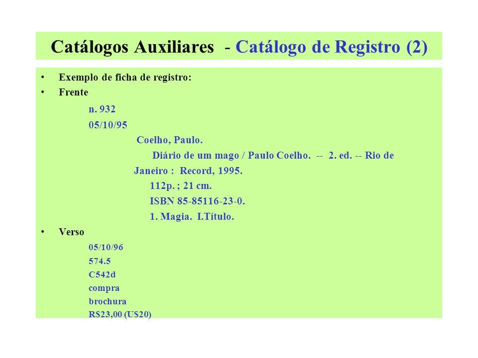 Catálogos Auxiliares - Catálogo de Registro (2)