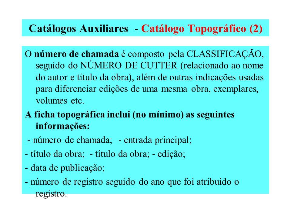 Catálogos Auxiliares - Catálogo Topográfico (2)