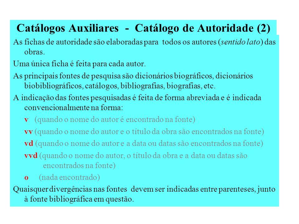 Catálogos Auxiliares - Catálogo de Autoridade (2)
