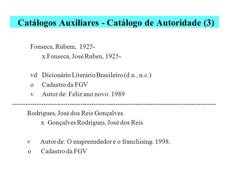 Catálogos Auxiliares - Catálogo de Autoridade (3)