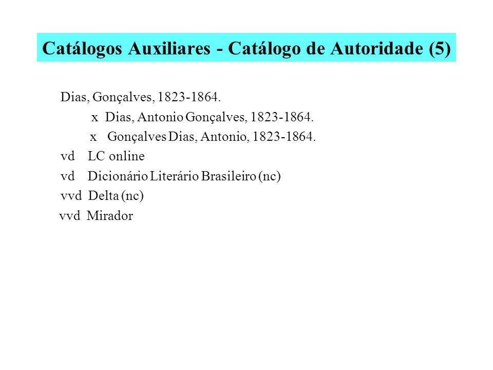 Catálogos Auxiliares - Catálogo de Autoridade (5)
