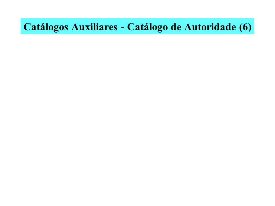 Catálogos Auxiliares - Catálogo de Autoridade (6)