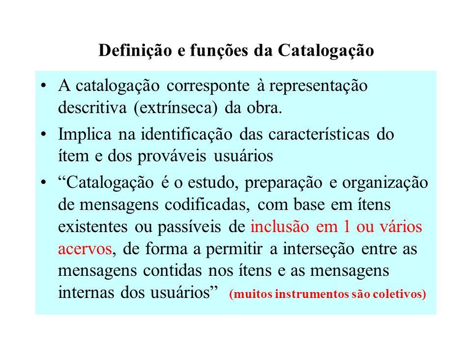 Definição e funções da Catalogação