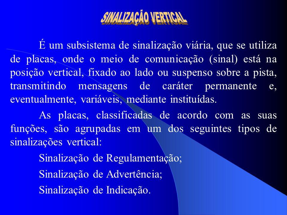 SINALIZAÇÃO VERTICAL