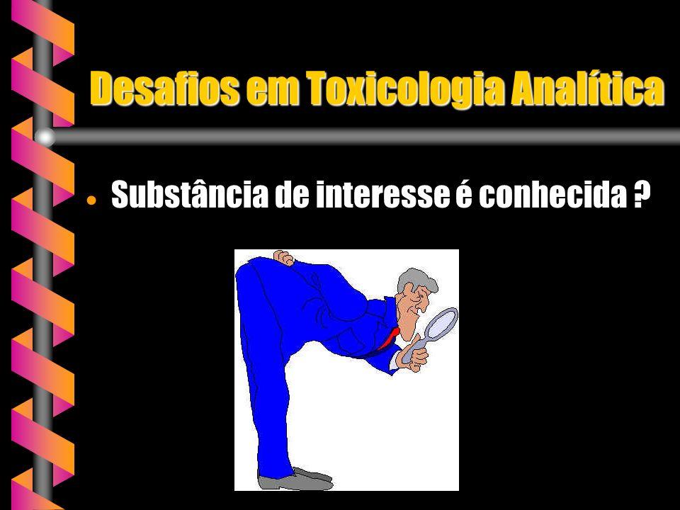Desafios em Toxicologia Analítica
