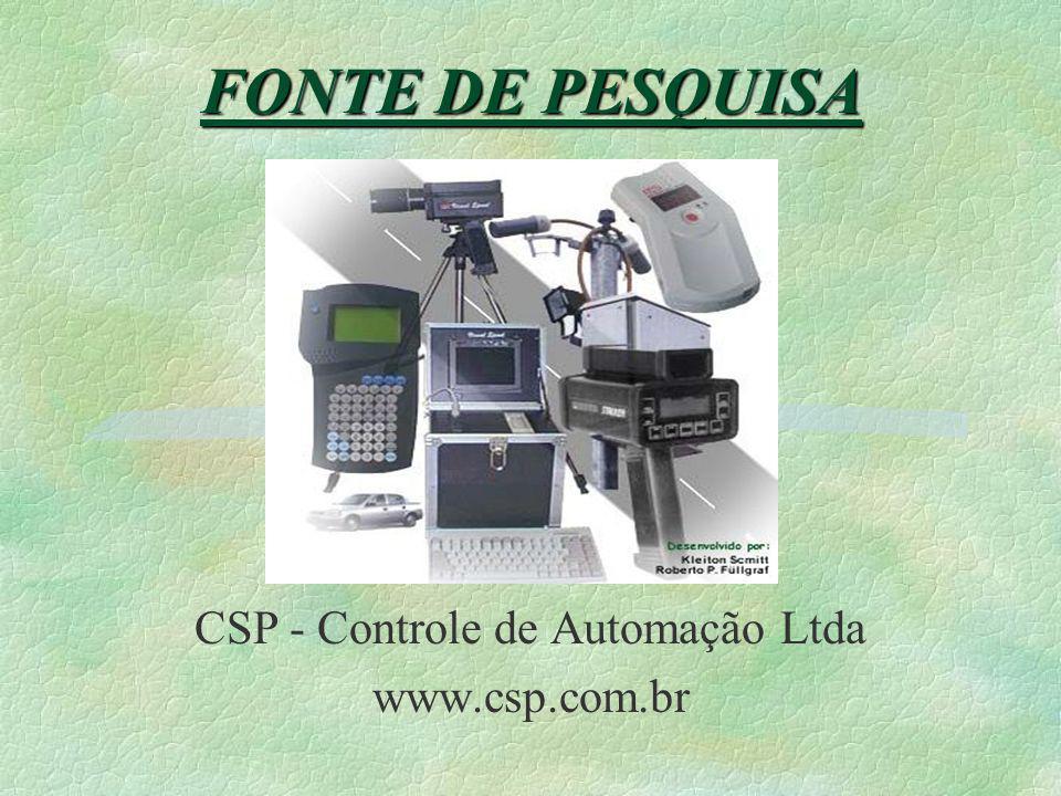 CSP - Controle de Automação Ltda www.csp.com.br