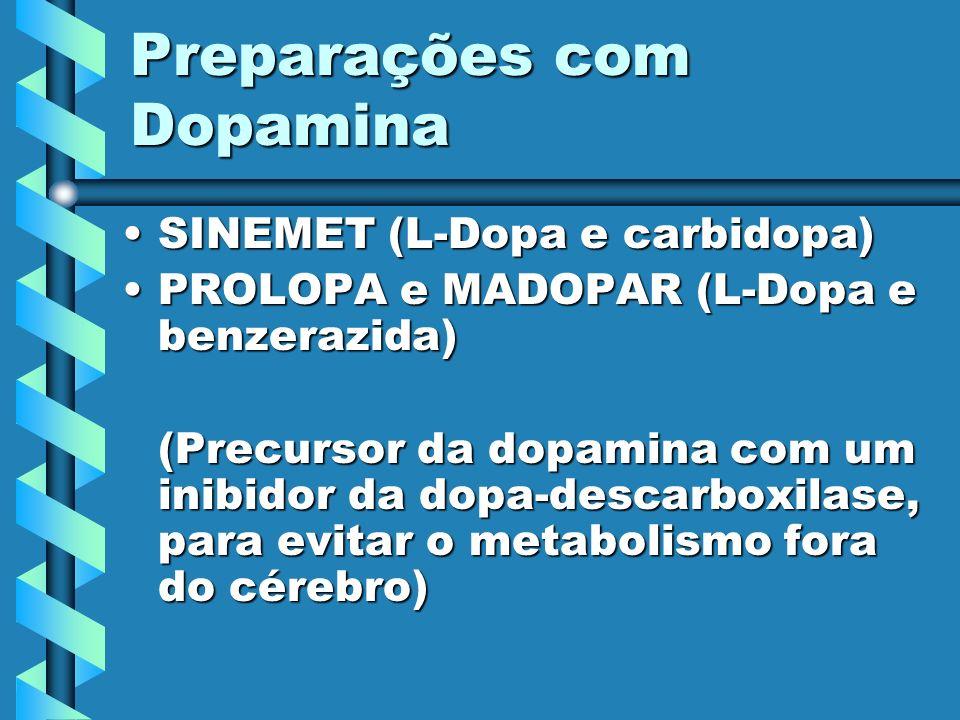 Preparações com Dopamina