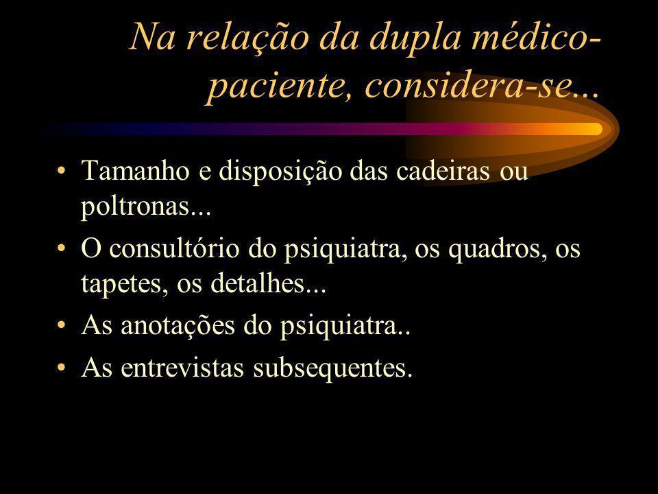 Na relação da dupla médico-paciente, considera-se...