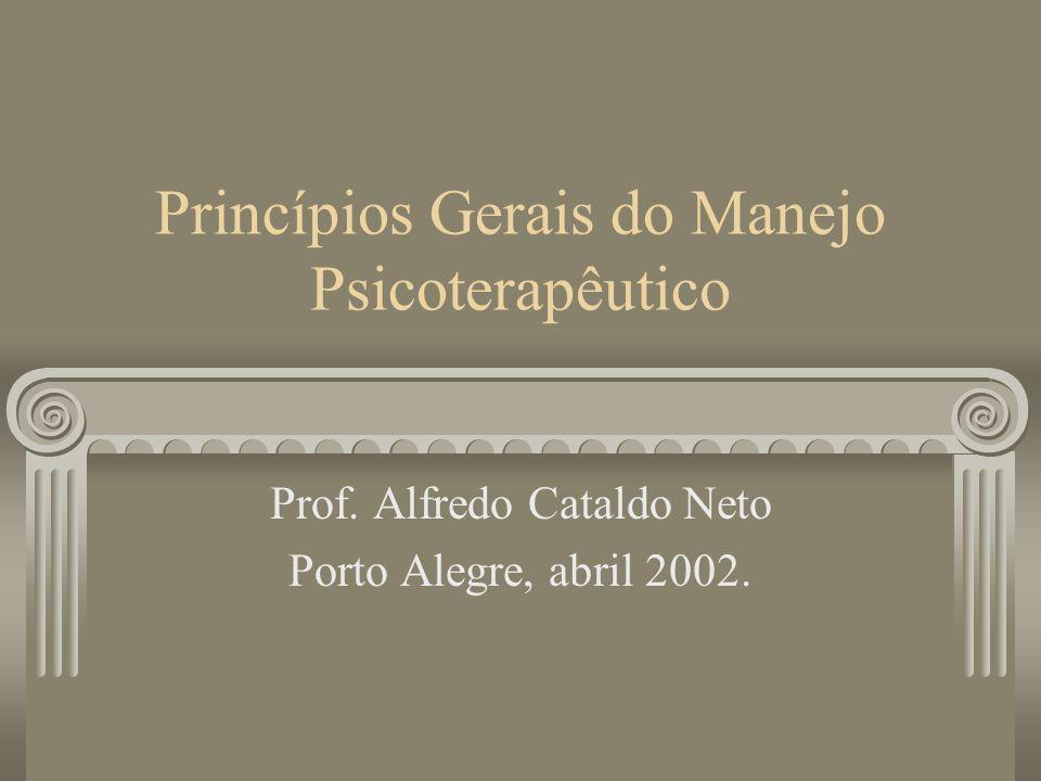 Princípios Gerais do Manejo Psicoterapêutico