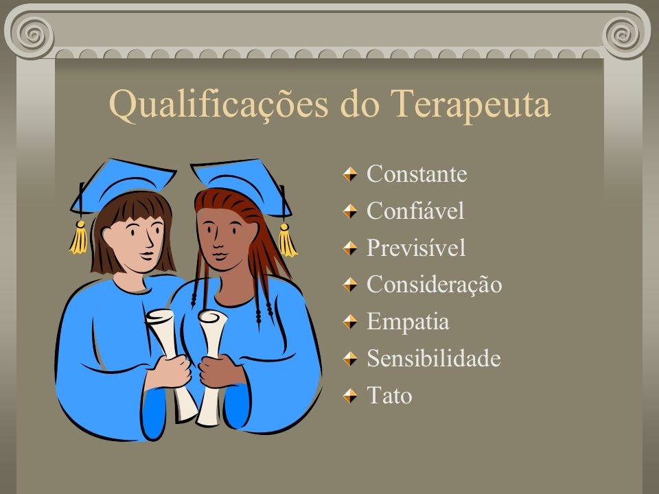 Qualificações do Terapeuta