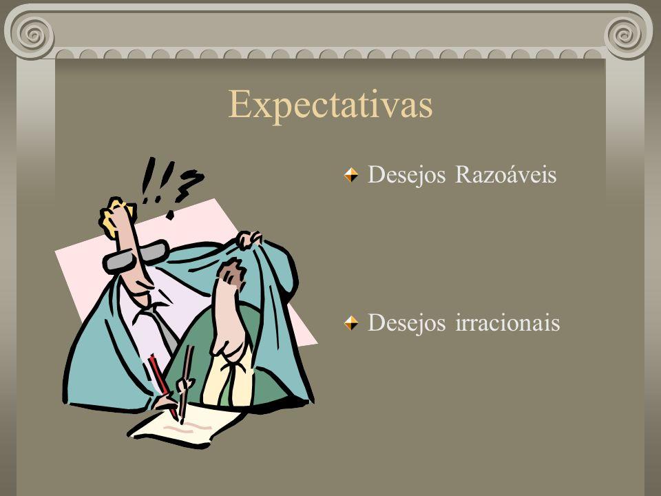 Expectativas Desejos Razoáveis Desejos irracionais