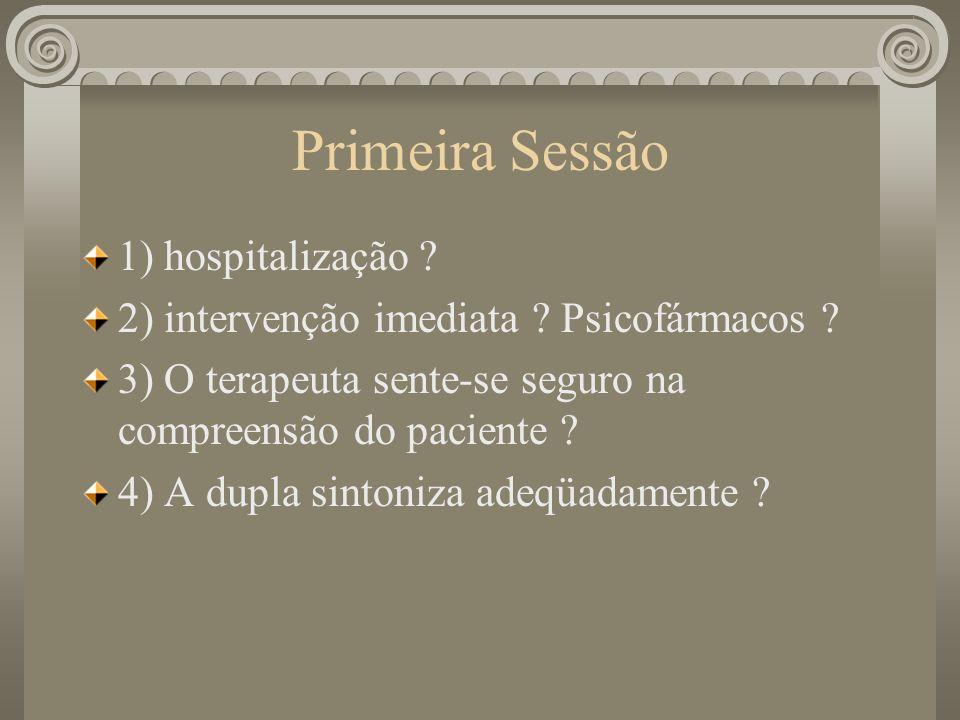 Primeira Sessão 1) hospitalização