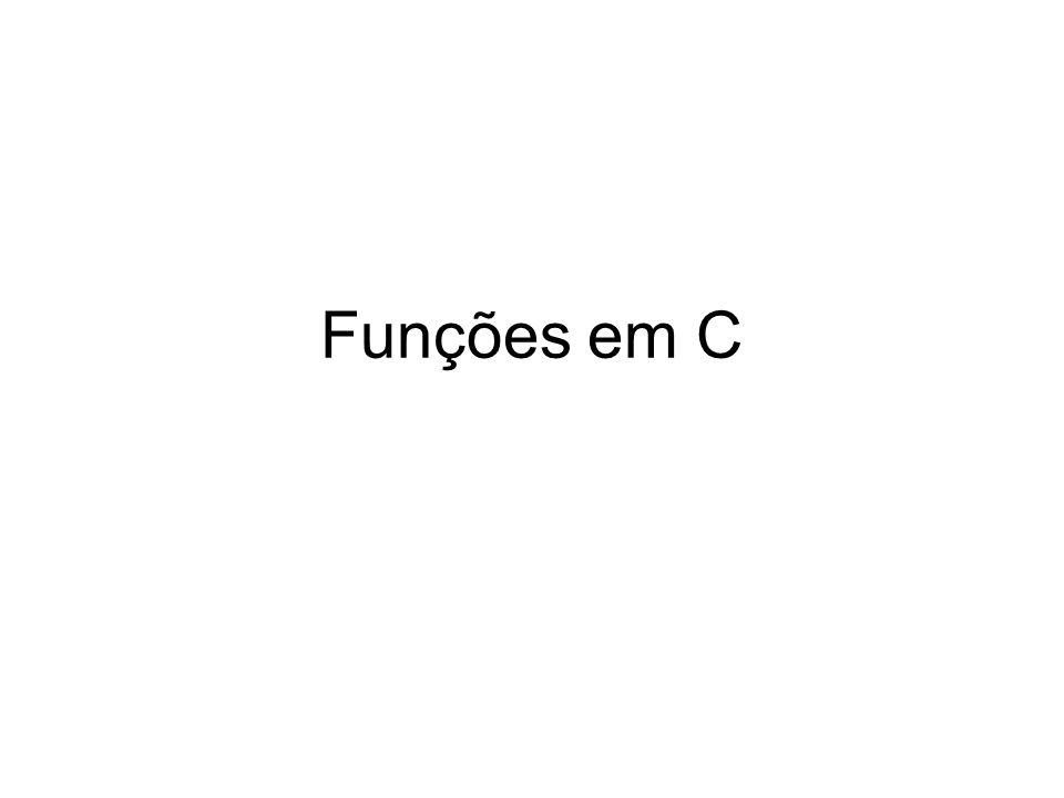 Funções em C