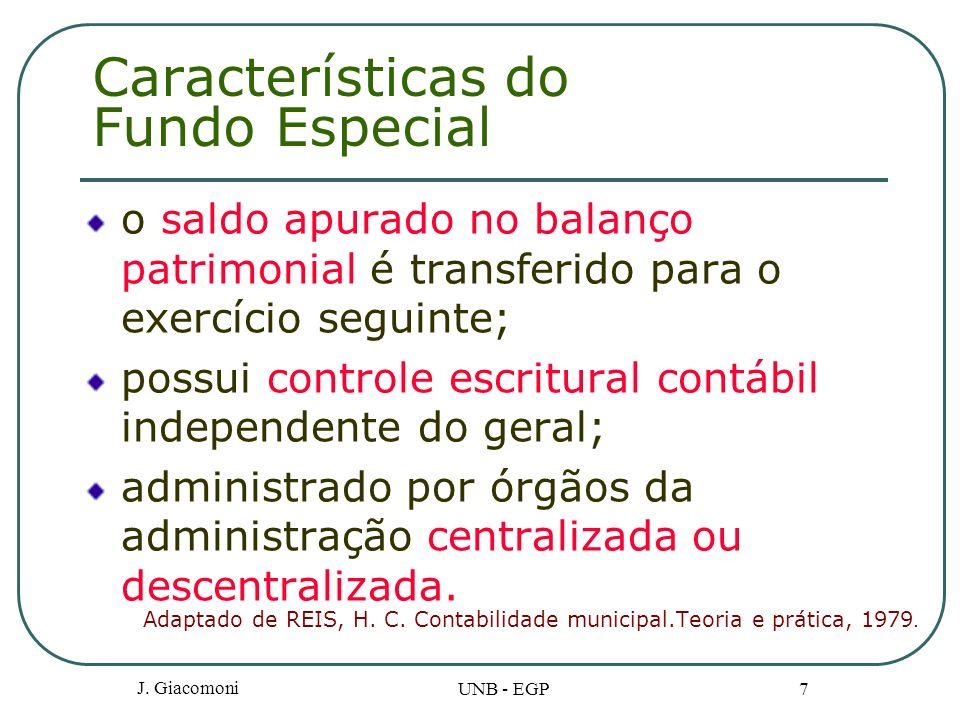 Características do Fundo Especial