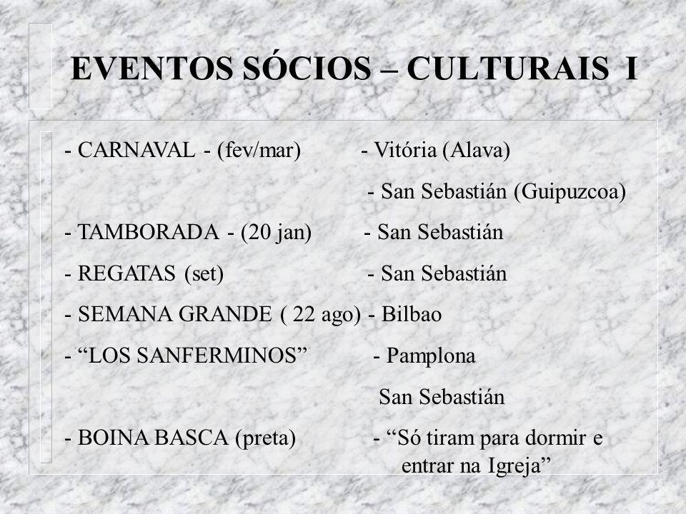 EVENTOS SÓCIOS – CULTURAIS I
