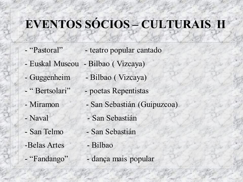 EVENTOS SÓCIOS – CULTURAIS II
