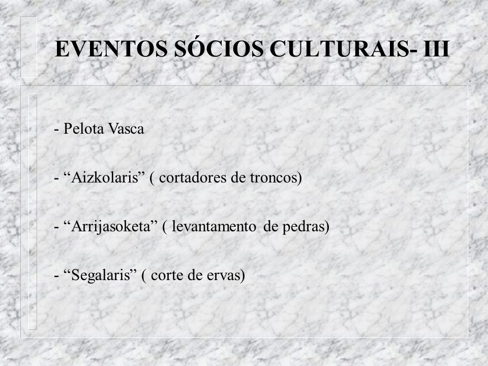 EVENTOS SÓCIOS CULTURAIS- III