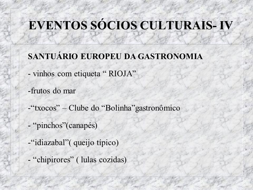 EVENTOS SÓCIOS CULTURAIS- IV
